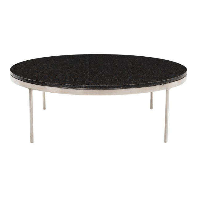 Large Nicos Zographos Granite Coffee Table For Sale