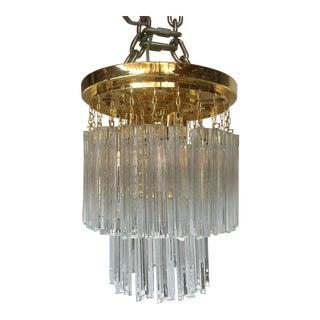Triedo Murano Glass Flush Mount Sputnik Chandelier For Sale