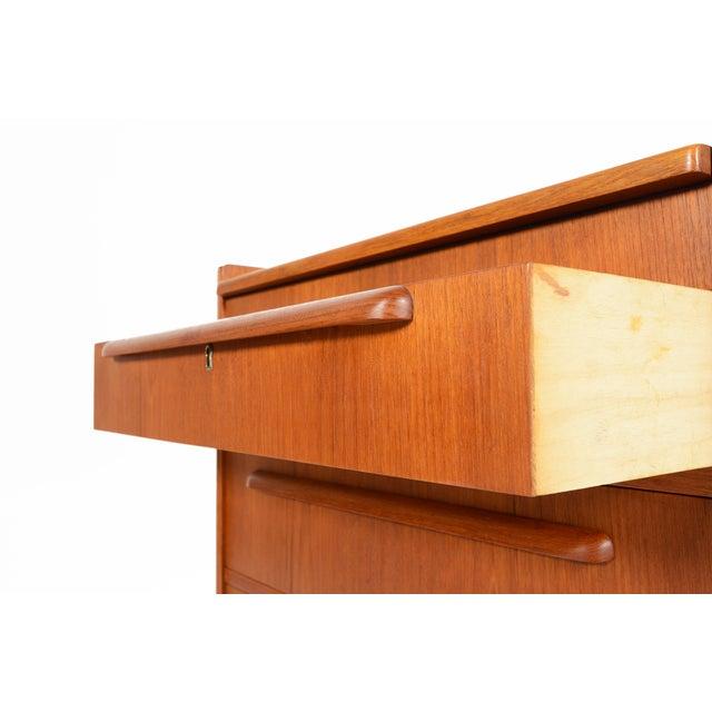 Danish Modern Teak Vanity Dresser - Image 9 of 10