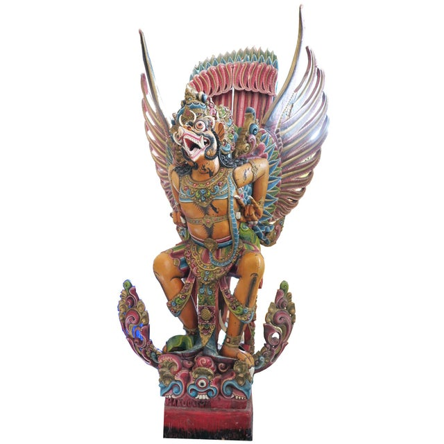 Wood Early 20th Century Vintage Carved Wooden Garuda Primary Tabs For Sale - Image 7 of 7