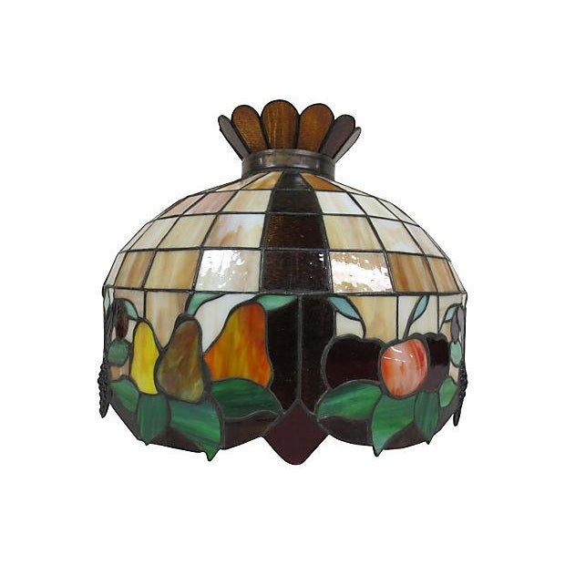 Stained Glass Light Fixture - Image 1 of 6