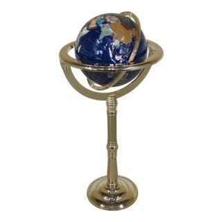 Standing Brass World Globe on Pedestal Stand