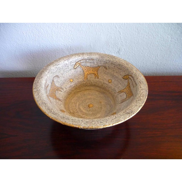 Bitossi Bitossi Mid-Century Cave Painting Bowl For Sale - Image 4 of 5