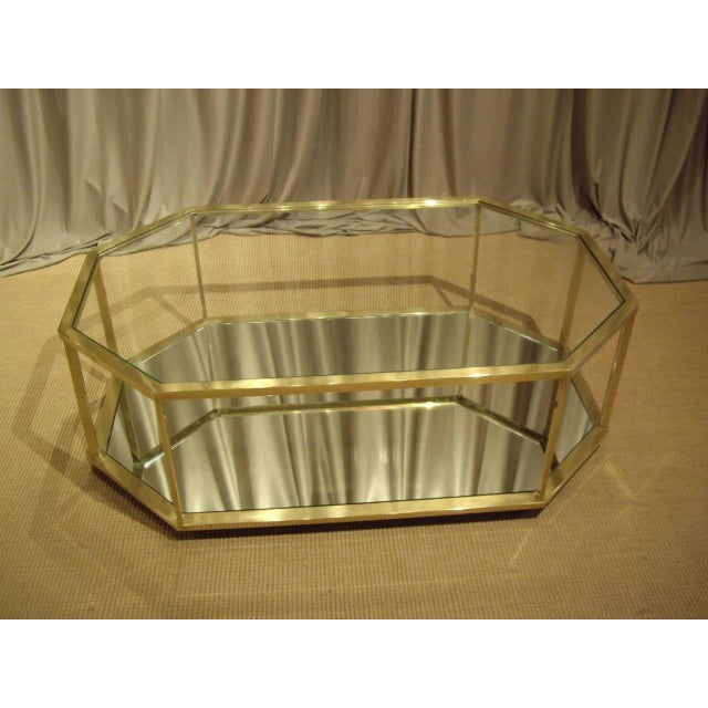 Vintage 1960s French Brass Coffee Table For Sale In New Orleans - Image 6 of 7