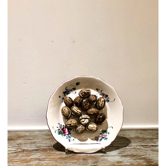 Wood Trompe l'Oeil Walnut Plate, France For Sale - Image 7 of 7