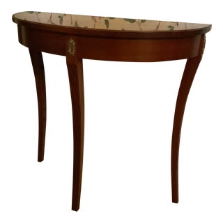 Ethan Allen Demi-Lune Table For Sale