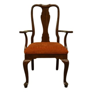 Ethan Allen Georgian Court Traditional Queen Anne Style Dining Arm Chair For Sale