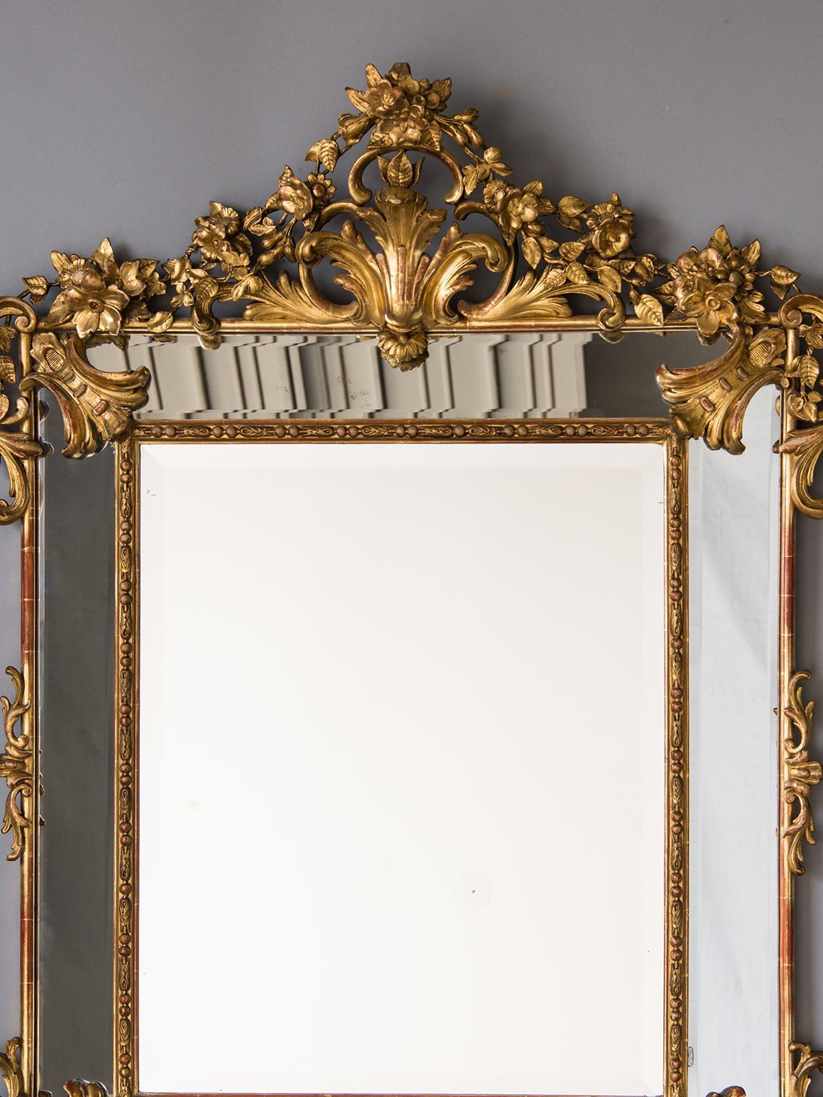 Luxury 19th Century Bold Antique French Regence Style Pareclose Gold