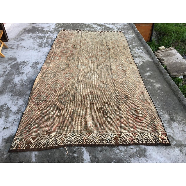 1960s Vintage Handwoven Kilim Rug - 5′8″ × 11′4″ For Sale - Image 9 of 9