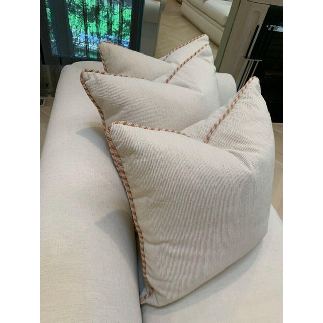Custom Fainting Couch With Left Arm Rest and Textured Fabric For Sale - Image 10 of 12