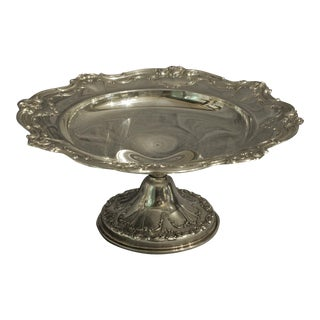 Large Gorham Sterling Compote / Cake Stand For Sale