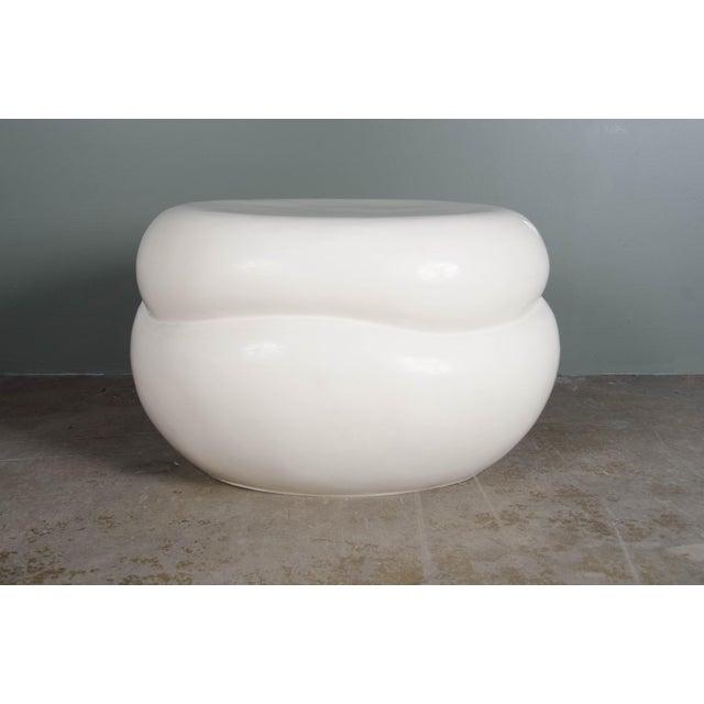 """Finish: Cream Lacquer Technique: Lacquer and Repousse Period: Contemporary Dimensions: 26""""Dia. x 16""""H Price: $4,050..."""