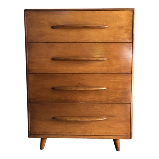 Vintage Mid-Century Modern Highboy Dresser by Heywood Wakefield For Sale