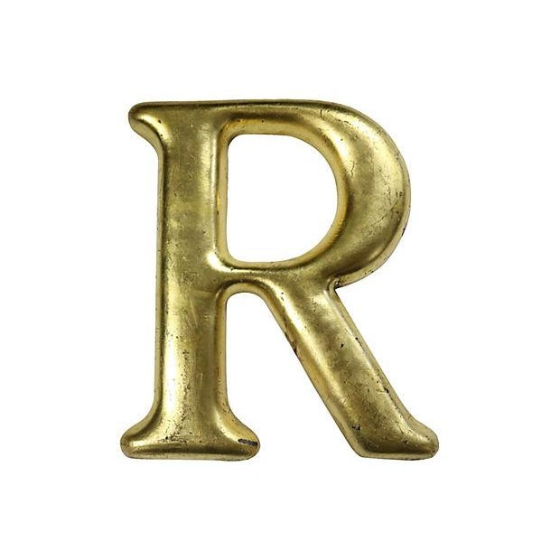 """English Pub Sign Letter """"R"""" - Image 1 of 2"""