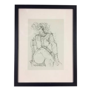 1949 Marcel Gromaire Gravure Female Nude Study For Sale