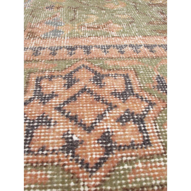 "Pastel Vintage Turkish Overdyed Rug - 6'9"" X 10' - Image 2 of 2"