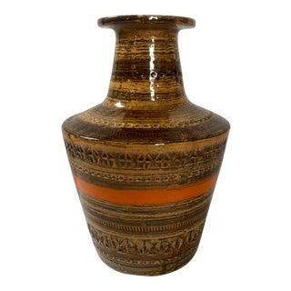 Mid Century Bitossi Sahara Italian Pottery Vase For Sale