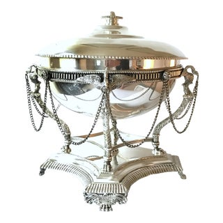 French Empire Style Silverplated Eagle Centerpiece Bowl For Sale
