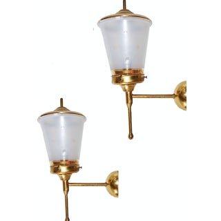 French Vintage Sconces by Lunel - Pair