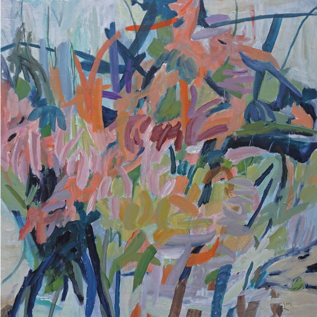 """This painting is part of the artist's ongoing series titled """"My Back Yard,"""" which examines and celebrates the natural..."""