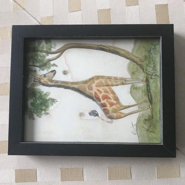 Framed Animal Watercolor Prints - Set of 4 - Image 3 of 9