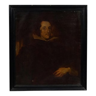 Dutch Man with Winged Collar Portrait For Sale