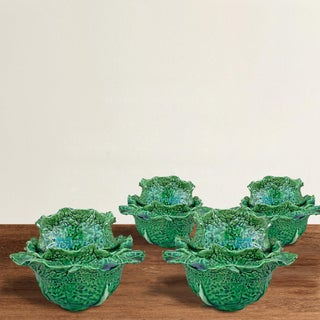 Early 20th Century Portuguese Cabbage Bowls- Set of 4 Preview