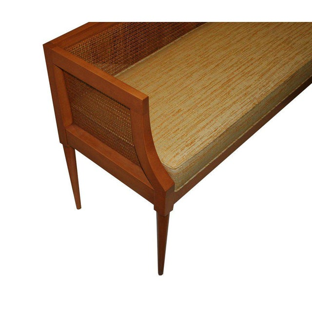 Maple Customizable Viktor Caned Maple Bench For Sale - Image 7 of 9