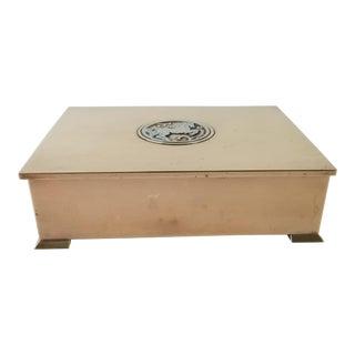 Silver Crest Bronze Decorative Box For Sale