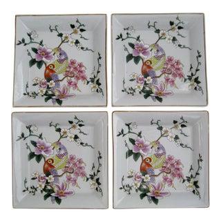 Glazed Porcelain Plates - Set of 4