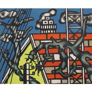 1958 Original French Exhibition Poster - Musée Des Beaux-Arts Rouen, Landscapes, Impressionism to Today, Fernand Leger For Sale