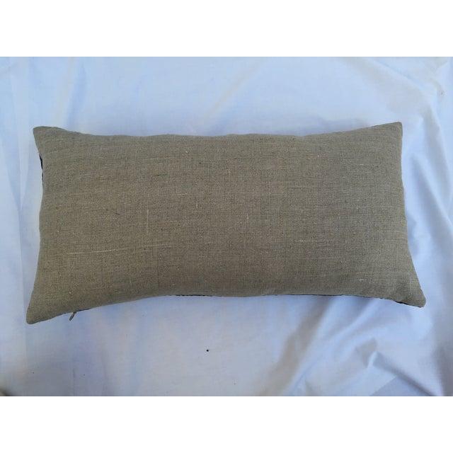 Vintage Lilac Silk Crane Boudoir Pillow For Sale - Image 7 of 7