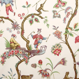 Scalamandre Chinoise Exotique Fabric Sample For Sale
