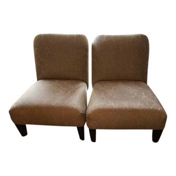 Cisco Home Armless Linen Slipper Chairs - A Pair - Image 1 of 6