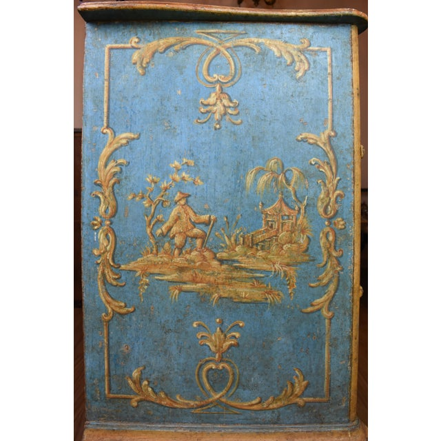 18th Century Italian Painted Chinoiserie Commode For Sale - Image 11 of 12