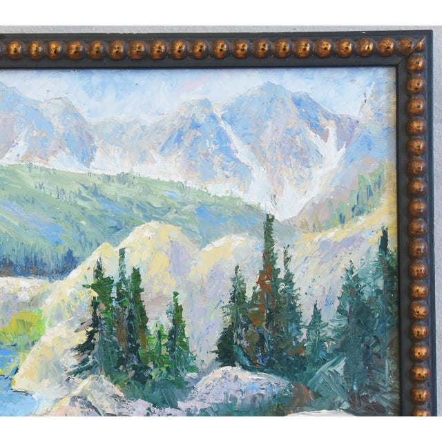 Zoltan, Plein Air Mountain and Lake Landscape Oil Painting For Sale In Los Angeles - Image 6 of 9