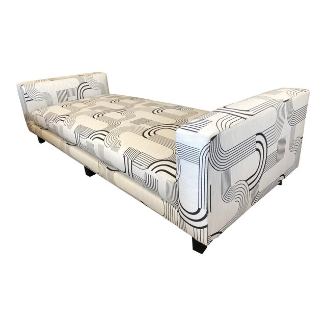 Black & White Art Deco Style Daybed For Sale