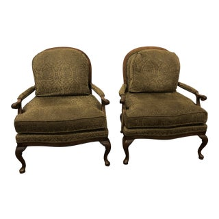 King Taylor Upholstered Arm Chairs - a Pair