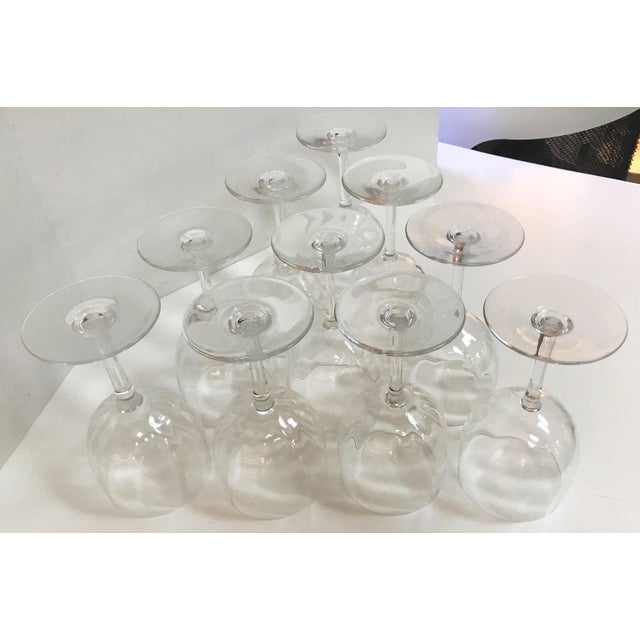 Baccarat Montaigne Optic Crystal Wine Glasses Goblets- Set of 10 For Sale - Image 10 of 13