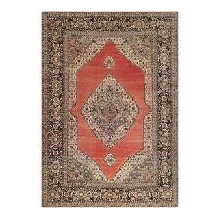 """Antique Tabriz Rug 7'3"""" X 10'2"""" For Sale"""