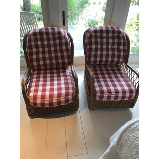 Late 20th Century Vintage McGuire Lounge Chairs - a Pair Preview