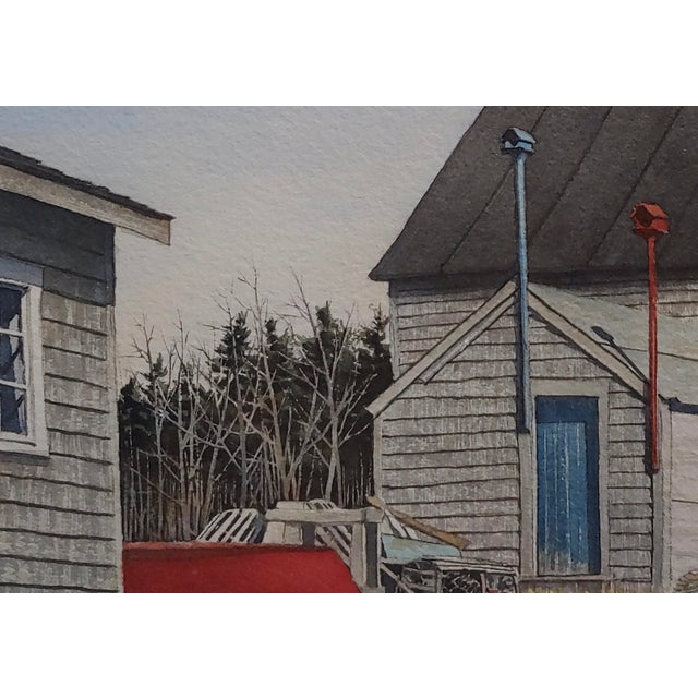 Gregory Dunham - the Cottage W/Blue Door- Watercolor Painting For Sale - Image 4 of 8