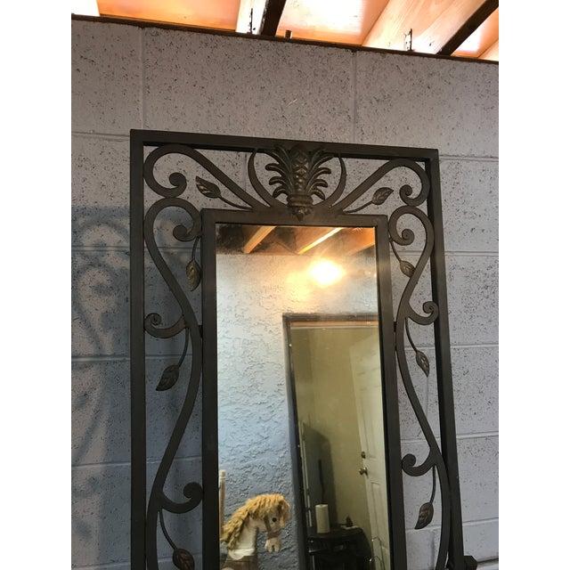 Metal Leaves Design Free Standing Mirror - Image 5 of 6