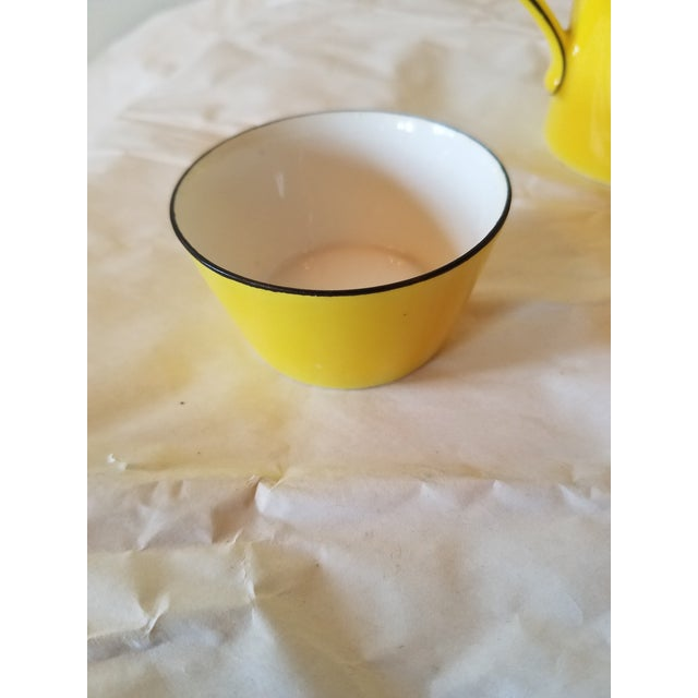 Yellow Antique Miniature Tea Set for Two - 8 Pieces For Sale - Image 8 of 11