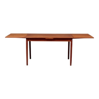 1960s Danish Modern Teak Extension Dining Table For Sale