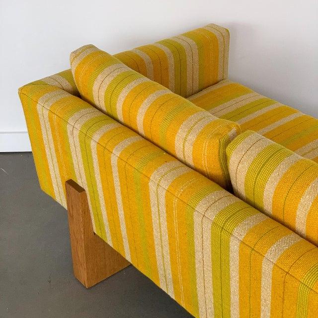 Harvey Probber Tuxedo Sofa With Oak Legs For Sale - Image 9 of 13