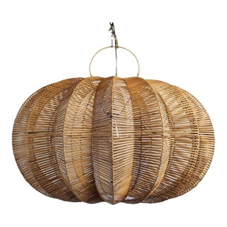 Split Stained Rattan Pumpkin Lantern 40""
