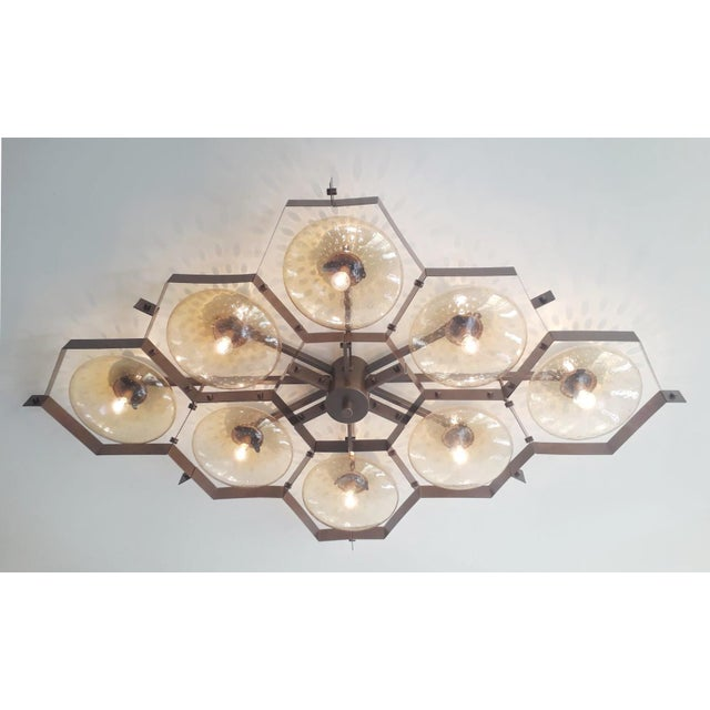 Beehive Flush Mount by Fabio Ltd For Sale In Palm Springs - Image 6 of 11