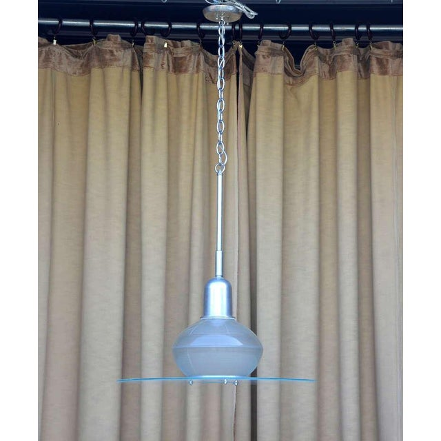 Art Deco Pair of French Art Deco Hanging Lights For Sale - Image 3 of 10