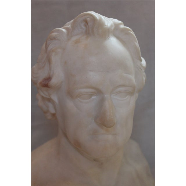 Johann Wolfgang Von Goethe Marble Bust Statue For Sale In Milwaukee - Image 6 of 10